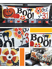Halloween Boo! Bench Pillow Sewing Pattern