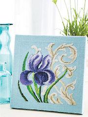 Iris Cross Stitch Pattern