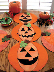 Pumpkin Party Table Runner, Place Mats or Table Topper Pattern