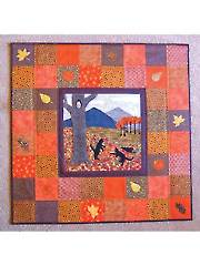 Trouble & Friends Frolic in the Leaves Wall Hanging Pattern