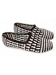 Black & White Graphic Slippers