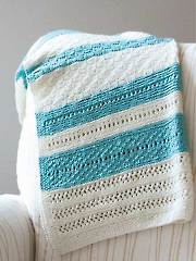 Peek A Blue Blanket Knit Pattern