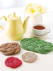 Knotted Coasters & Trivet Knit Pattern