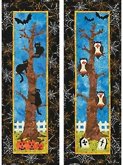 Scaredy Cats & Boo Hoots Wall Hanging Pattern