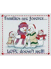 Snow Family Love Cross Stitch Pattern