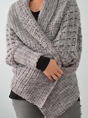 Two-Way Wrap Cardigan Knit Pattern