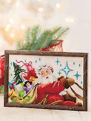 Santa's Sleigh Ride Cross Stitch Pattern