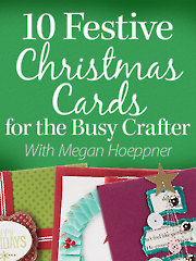 Have you ever wished you could get more done in the weeks leading up to Christmas? What if you could create handmade cards for everyone on your Christmas card list? YOU CAN! Join designer Megan Hoeppner as she teaches creative designs and innovative techniques for 10 festive holiday cards that you can put together in a flash! Along the way, she'll also share time-saving tips on how you can create multiples of the same design quickly.  In this class you'll learn how to:; Maximize shaped punches.; Apply heat-set foil to printed images.; Incorporate your own hand-lettering as the focal point of your design.; Use pocket scrapbooking inserts as holiday card bases.; Transform coffee filters into sparkling snowflakes.; Create watercolor backgrounds.; Stamp and heat-emboss a holiday greeting.; Re-purpose old book pages to create a Christmas tree design.; Use washi tape in unexpected ways.; Create shaker cards.; Make cards in assembly-line fashion to create multiples in minutes.; Finish the in