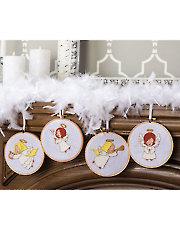 Angel Ornaments Cross Stitch Pattern