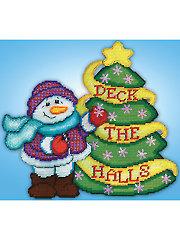 Deck the Halls Snowman Plastic Canvas Kit