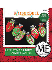 Christmas Light Advent Banner Embroidery CD