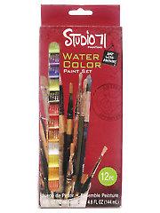 Studio 71 Watercolor Paint Set - 12/Pc.