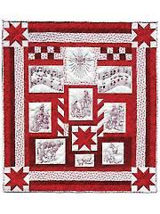 Nativity Redwork Quilt Pattern