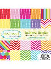 Rainbow Brights 6x6 Paper Pack