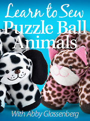 Learn to Sew Puzzle Ball Animals SDV01