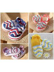 Chasing Chevrons Baby Sandals Crochet Pattern