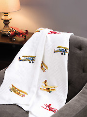 Soaring Airplanes Cross Stitch Pattern