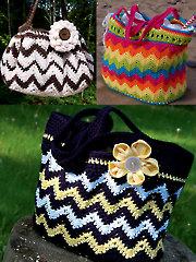 3 Chasing Chevron Bags Crochet Patterns