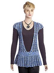 Blue Mist Vest Crochet Pattern