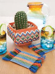 Southwest Planter & Mug Rugs