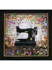 Grandmas Sewing Machine Watercolor Quilt Kit