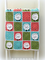 Little Sheep Baby Blanket Crochet Pattern - Electronic Download RAC1710