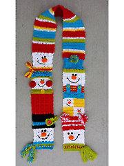 Snappy Sampler Snowman Scarf Crochet Pattern