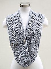 Fishbone Cowl Crochet Pattern
