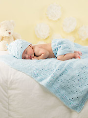 ANNIE'S SIGNATURE DESIGN Florious Knit Baby Set