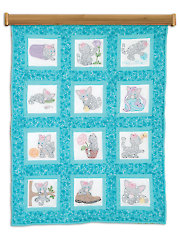 "Kittens 9"" Prestamped Quilt Blocks"