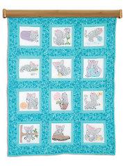 "Kittens 9"" Prestamped Quilt Blocks"