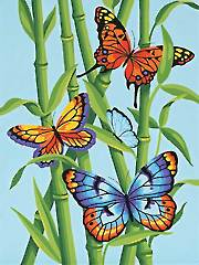 Butterflies & Bamboo Paint-by-Number Kit