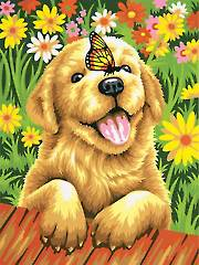 Puppy Gardener Paint-by-Number Kit