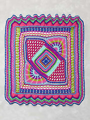 Color Explosion Afghan - Electronic Download