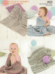 Sirdar Snuggly Baby Crofter DK 4635: Baby Blankets Knit Pattern