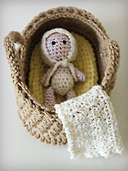 Bassinet Baby Playset Crochet Pattern - Electronic Download