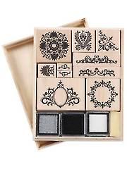Flourish Wooden Stamp Set