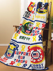 Military Afghan Crochet Pattern - Electronic Download