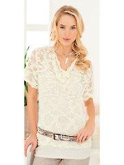 3686: Ladies Drape Neck Sweater Knit Pattern