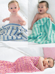 3422: Baby Blankets Knit Patterns