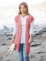 ANNIE'S SIGNATURE DESIGNS: Passionista Vest Knit Pattern