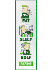 Eat Sleep Golf Quilt Pattern
