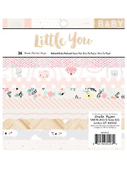 """Little You Girl Pattern Paper Pad 6"""" x 6"""""""