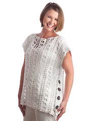 Lace Poncho Crochet Pattern - Electronic Download RAC1817