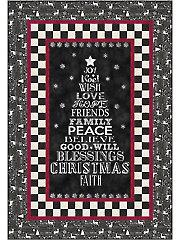 Chalkboard Christmas Quilt Pattern