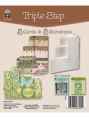 Triple Step Die Cut Cards & Envelopes 5/Pkg