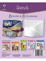Bendi Die Cut Cards & Envelopes 5/pkg
