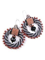 Swirl Bead Crochet Earrings Kit