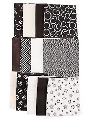 Mystery Fabric Pack Black/White/Tan/Brown - 2 lbs.