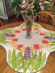 Spring is All Around Table Topper Pattern